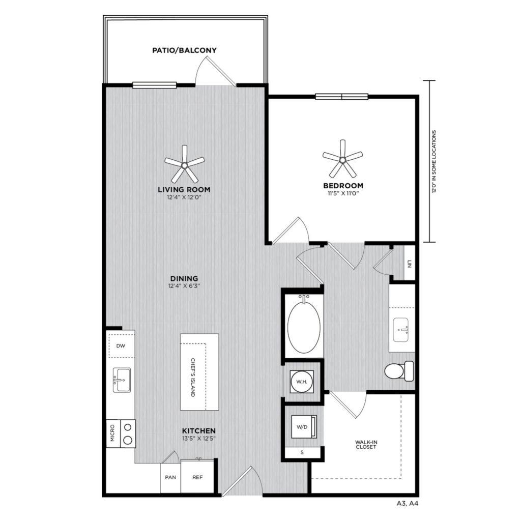 Magnolia One Bed/One Bath Luxury Apartment Floorplan - Roomy One Bed/One Bath at Alexan 335